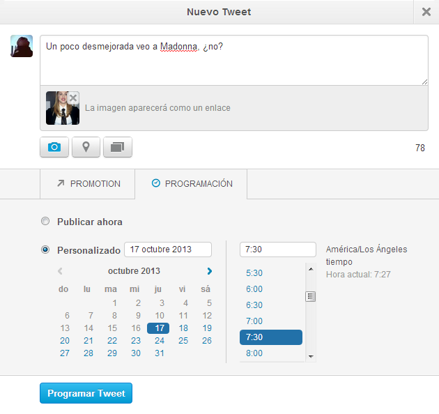 Twitter programados