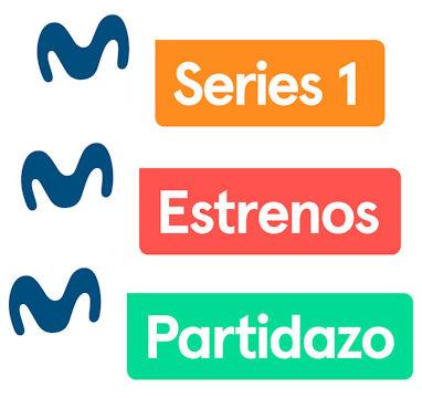 Ejemplos de logotipos de los canales Movistar